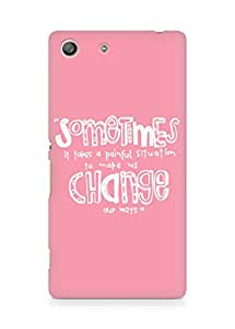 AMEZ painful situation change us Back Cover For Sony Xperia M5