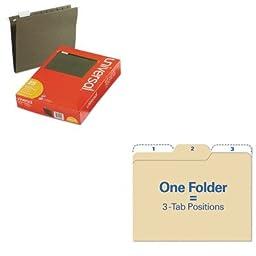 KITIDEFT07046UNV14115 - Value Kit - Find It Findit File Folders (IDEFT07046) and Universal Hanging File Folders (UNV14115)