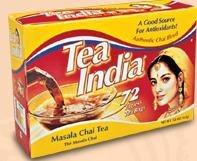 Tea India Masala Chai Tea Bags 72ct from Spicy World