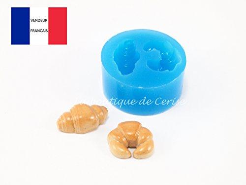 Moule silicone vienoiserie croissants, pâte à modeler, resine, porcelaine froide