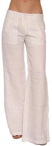 Joie Women's Hampton Wide Leg Linen Pant in Porcelain White Size 2