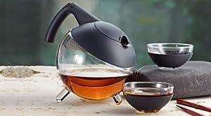jenaer globo tetera jena glas teekanne glass teapot tea pot museum kitchen dining. Black Bedroom Furniture Sets. Home Design Ideas