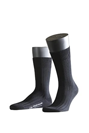 FALKE Herren Socken 14683 Milano Business SO, Gr. 39/40, Schwarz (black 3000)