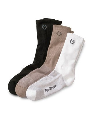 Fox River Quick-Dry, Anit-Bacterial Travel Sock - Black -Medium