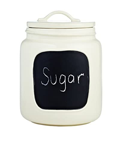 Rae Dunn by Magenta Chalkboard Jar, Medium, White As You See