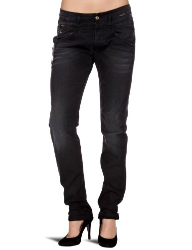 Replay Romelly Boyfriend Women's Jeans Black Denim W30in x L34in