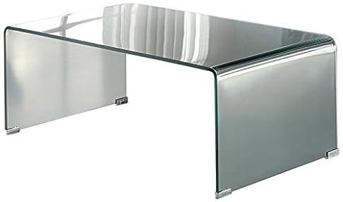 Schuller 552307-Tavolino basso da salotto, in vetro trasparente, 60 x 110 x 40 cm