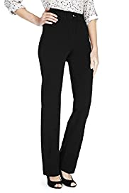 Cotton Rich 2-Way Stretch Straight Leg Trousers
