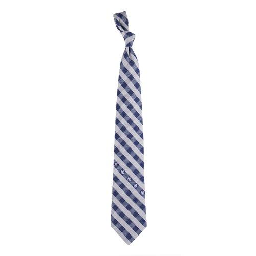 New York Yankees Check Poly Necktie (New York Yankee Tie compare prices)