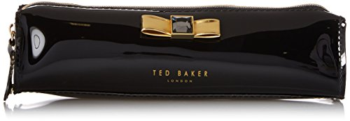 Ted Baker Bow Metallic Pencil Cosmetic Case,Black,One