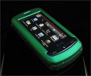GREEN Hard Plastic Full View Rubber Feel Cover Case w/ Screen Protector for L...