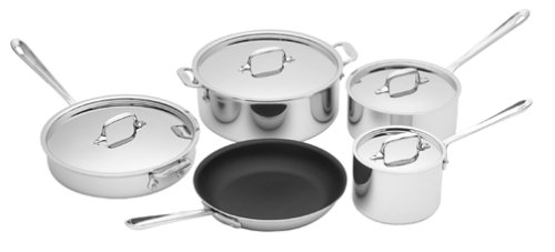 All-Clad Stainless 9-Piece Cookware Set with Nonstick Fry Pan