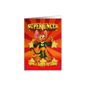 Amazon.com: Uncle Birthday Card - Super Uncle - Mouse W