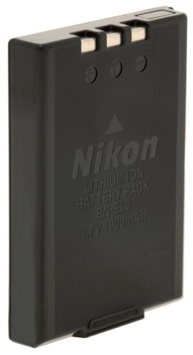 Nikon EN-EL2 Rechargeable Battery (for Nikon Coolpix 2500, 3500, SQ, Digital Cameras), #9904 - Retail Packaging