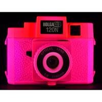 HolgaGlo 120N Plastic Lens Medium Format Camera, Fuschia Fusion