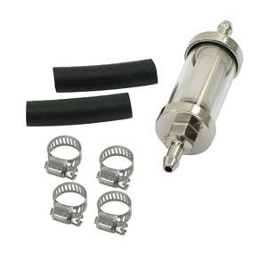 EMPI 9065 - GLASS FUEL FILTER KIT - VW Dune Buggy Bug Ghia Thing Trike Split Rat Rod Baja Sand Rail
