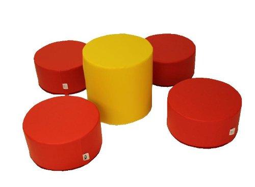 Krippen Spiel-und Sitzlandschaft 5 Teilig XL Softbausteine