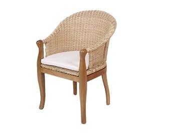 Rattansessel beige massivholz Pinie Sessel Rattan Rattanstuhl Rattanrohr Stuhl