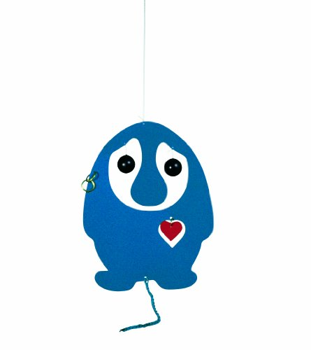 Flensted Mobiles Nursery Mobiles, Puffing Troll Blue