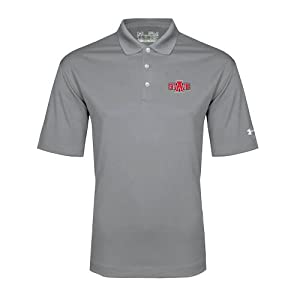 Arkansas State Under Armour Graphite Performance Polo