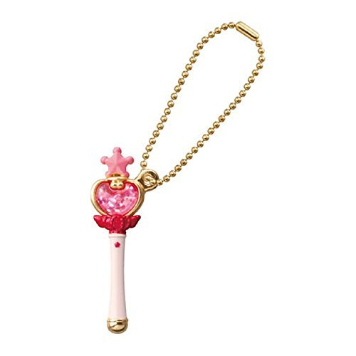 Sailor Moon Die-cast Charm Part 2~Figure Swing Keychain~Pink Moon Stick~42mm - 1