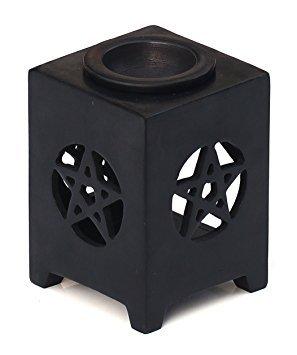 souvnear-114-cm-inches-essential-oil-diffuser-warmer-burner-for-fragrance-aromatherapy-elegant-black