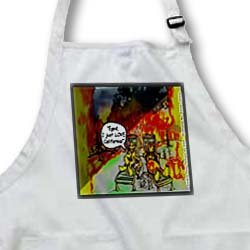 HOT Vacations In California - BLACK Full Length Apron With Pockets 22w X 30l