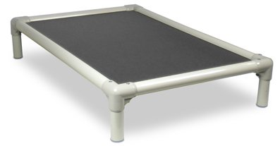 Kuranda Almond Pvc Chewproof Dog Bed - Xl (44X27) - Cordura - Smoke