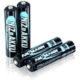 ANSMANN 1321-0001 NiZN Akku Micro AAA 900mWh HR03 4er 1,6V Nickel-Zink hohe Spannung