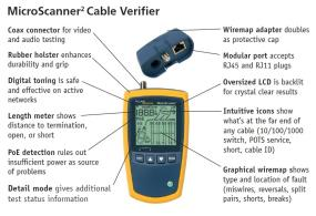 MicroScanner2 Cable Verifier