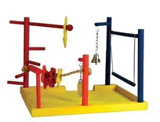 JW Pet Company Wood Play Gym Large Bird Toy 12.5in Width x 1in Depth x 10in Ht.