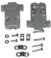 Pc Accessories - Gray Plastic Hood For Db-9/Hd-15 Connectors Short Screws, 10 Pack