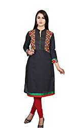 Black Jacket 3/4 Sleeves Kurta
