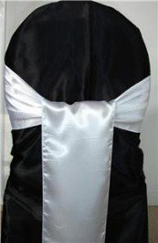 Mds Pack of 200 satin chair sashes bow for wedding and Events Supplies Party Decoration chair cover sash -30 color