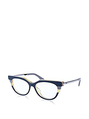 Fendi Montura 116 (52 mm) Azul / Crudo