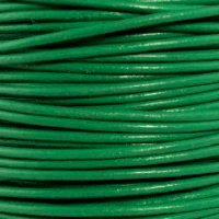 "Light Green Round Leather Cord 1.5Mm (3/32"") X 50 Meters (54.68 Yds)"