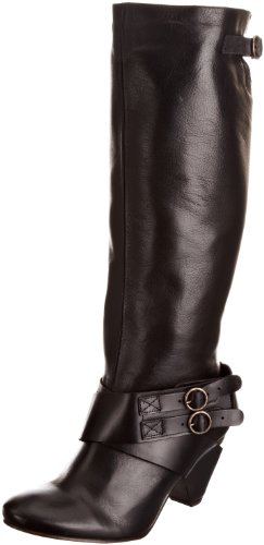 Fly London Women's Gina Black/Black Knee High Boots P142386000 6 UK