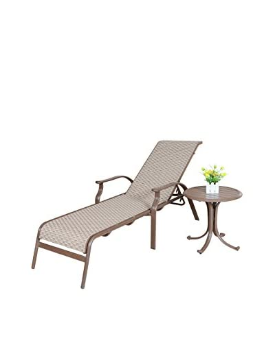 Panama Jack Island Breeze Sling 2-Piece Lounge Set, Espresso