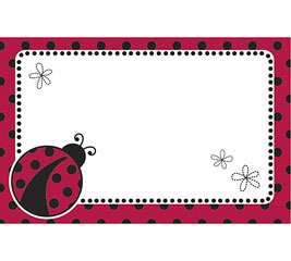Ladybug Polka Dots Spring Enclosure Cards 50 Pack- Gift Supplies