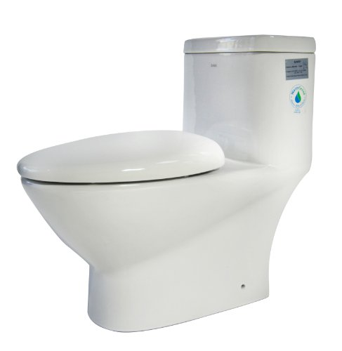 EAGO TB346 Modern Dual Flush One EcoFriendly Ceramic Toilet,
