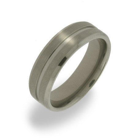 Mens Single Groove Titanium Ring Size 12 (Sizes 10 11 12 Available)