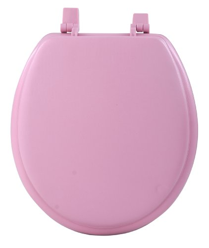 Achim Home Furnishings Tovysttr04 17-Inch Fantasia Standard Toilet Seat, Soft Tea Rose