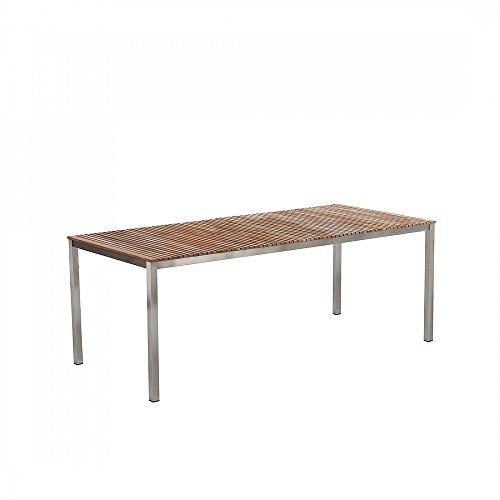 Gartentisch-200x90-cm-Teak-Edelstahltisch-Tisch-Esstisch-VIAREGGIO