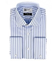 Savile Row Inspired Pure Cotton Herringbone Striped Shirt