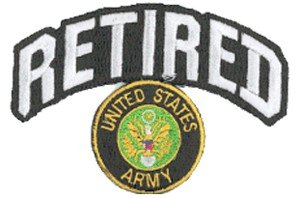 Army Retired Patch - with Logo