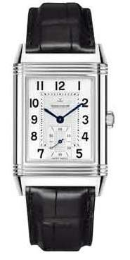 Jaeger LeCoultre Grande Reverso Manual Wind Leather Strap Mens Watch Q3738420