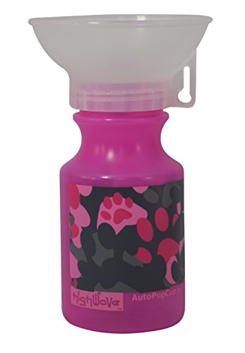 Highwave AutoPupCup 14oz Water Bottle for Dogs, Auto Pup Cup Color CAMO Pink (Oasis Water Bottle Dog compare prices)