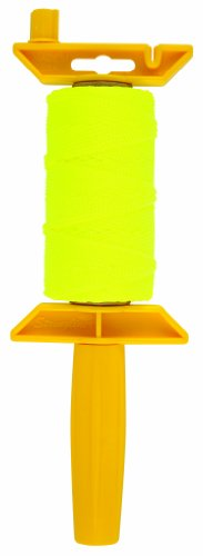 Task Tools T27110 250-Feet Braided Nylon Construction Line and Reel Holder, Yellow