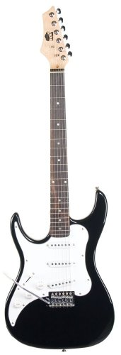 Axl Headliner Series Electric Guitar, 3/4-Sized, Black, Left Handed