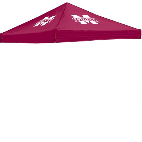 Tent 10' X 10' Canopy Tailgate Top Polyester Mississippi State 4 Logos Red front-1072396